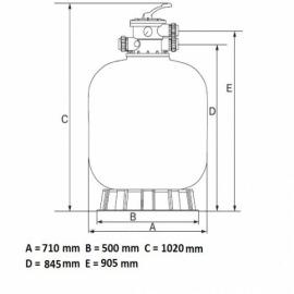 фильтрационная емкость emaux v800 мм - 25 м3/час Emaux (Китай) фильтровальные емкости