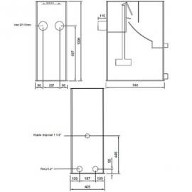 Ситчатый фильтр для пруда (УЗВ) Filtreco Sieve 1