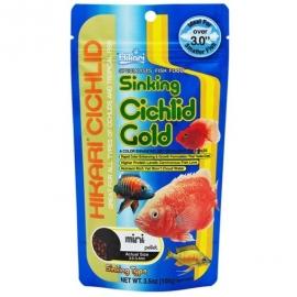 Корм для хищных цихлид Hikari Cichlid Gold Sinking тонущий 0,1 kg