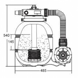 фильтрационный комплект fsp 300 мм, - 3.5 м3/час Emaux (Китай) фильтровальные установки