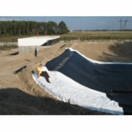 геотекстиль лавсангео 200 г/м2 Могилевхимволокно (Беларусь) геотекстиль для пруда