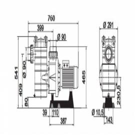 насос для бассейна kripsol kap 250 t  - 41м3/ч Kripsol (Испания) насосы для бассейна