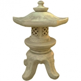 Светильник садовый керамический, малый, шестиугольный