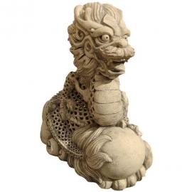 Светильник садовый керамический, дракон восточный