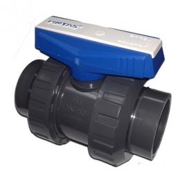 Кран кульовий двопозиційний ПВХ Pimtas - D 16 мм