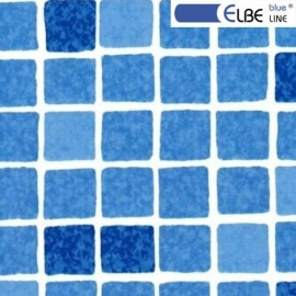 Плівка ПВХ для басейну Elbeblue line Marble blue, мозаїка синя (ширина 1.65 м)