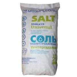 Соль таблетированная Mozersol (Белорусь) 25 кг от 10 мешков