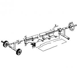 наматывающее устройство (ролета) для солярной пленки vagner 3,7-5,4 м мобильное Vagner (Чехия) солярная пленка и наматывающие устройства