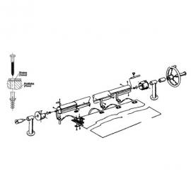 наматывающее устройство (ролета) для солярной пленки vagner 3,7-5,4 м cтационарное Vagner (Чехия) солярная пленка и наматывающие устройства