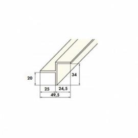 уголок переливного желоба kripsol - 2 м Kripsol (Испания) переливные решетки
