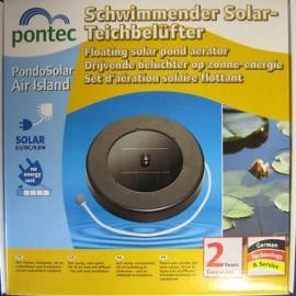 плавающий аэратор на солнечной батарее pontec pondosolar air island Pontec (Германия) aэраторы для пруда