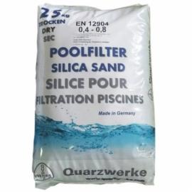 Кварцевый песок Quarzwerke (0,4 - 0,8 мм), 25 кг