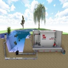 комбинированный барабанный фильтр для пруда (узв) aquaking  red label combi drum filter 50/55 AquaKing (Нидерланды) барабанные фильтры