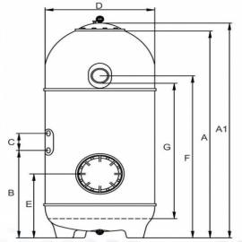 фильтрационная емкость kripsol san sebastian 640 мм - 12.8 м3/час Kripsol (Испания) фильтровальные емкости