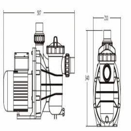 насос для бассейна emaux ss050 - 11 м3/час Emaux (Китай) насосы для бассейна