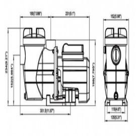 насос для бассейна bridge - 5 м3/час с таймером Bridge (Китай) насосы для бассейна
