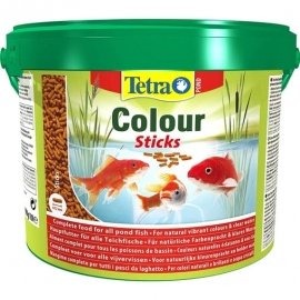 Корм для рыб TetraPond ColourSticks - 10 л