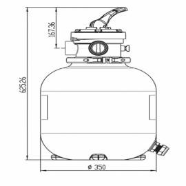 фильтрационная емкость bridge top 350 мм - 5 м3/час Bridge (Китай) фильтровальные емкости