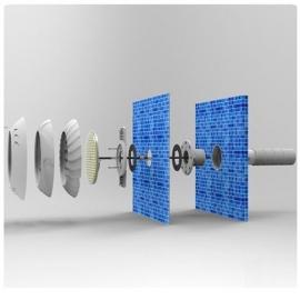 закладная для крепления прожекторов тм hentech Hentech (Китай) подводные прожекторы