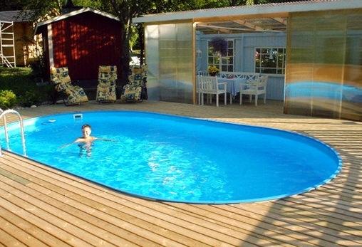 Сборный каркасный бассейн Toskana 4,16 x 8,00 х 1,5 м