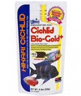 Корм для цихлід з пробіотиками та спіруліною Hikari Cichlid Bio-Gold+ 0,25 kg
