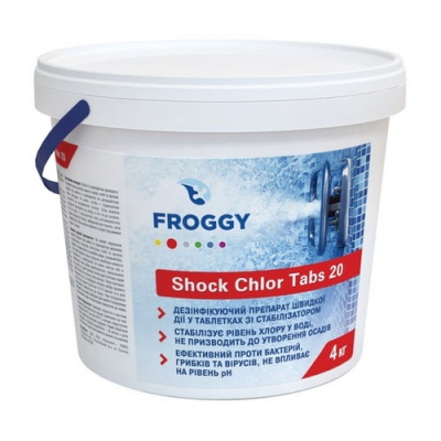 Хлор-шок Froggy Shock Chlor Tabs 20 - 4 кг (20 гр.)