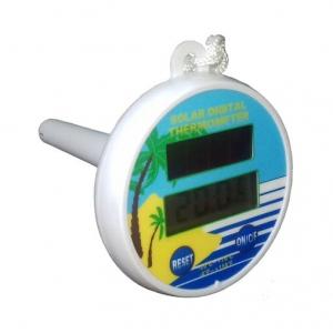 Термометр круглый цифровой Bridge на солнечной батарее